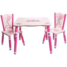 Teamson Princess Table and Chairs Set in Pink - Closeouts