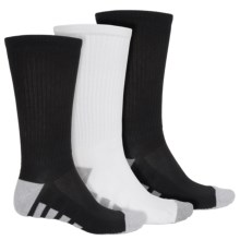 Tech Crew Socks - 3-Pack (For Men) in Black/Black/White - 2nds