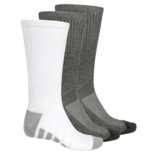 Tech Crew Socks - 3-Pack (For Men) in White/Grey/Charcoal - 2nds
