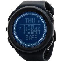 Tech4o Traileader Jet Watch - Altimeter, Compass, Barometer in Black - Closeouts