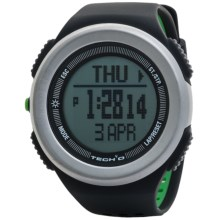 Tech4o Traileader Pro Watch - Heart Rate Monitor, Altimeter, Compass in Black/Green - Closeouts