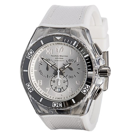 TechnoMarine Cruise California Quartz Dial Watch - Silicone Strap in White/Antique Silver