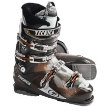 Tecnica 2011/12 Mega 10 Ski Boots (For Men) in Transparent Neutral Black - Closeouts