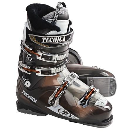 Tecnica 2011/12 Mega 10 Ski Boots (For Men) in Transparent Neutral Black
