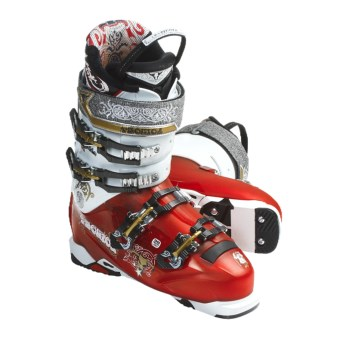 Tecnica 2011/2012 Bonafide 110 Alpine Ski Boots (For Men and Women) in Solar Red/White