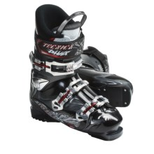 Tecnica 2011/2012 Phoenix Max 6 Alpine Ski Boots (For Men and Women) in Antracite/Black - Closeouts