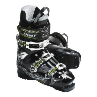 Tecnica 2011/2012 Phoenix Max 8 Alpine Ski Boots (For Men and Women) in Smoke/Black