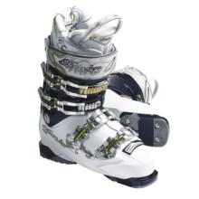 Tecnica 2011/2012 Viva Demon 100 Air Shell Alpine Ski Boots (For Women) in White/Blue - Closeouts