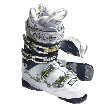 Tecnica 2011/2012 Viva Demon 100 Air Shell Alpine Ski Boots (For Women) in White/Blue