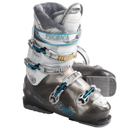 Tecnica 2011/2012 Viva Mega 10 Ski Boots (For Women) in Black/White
