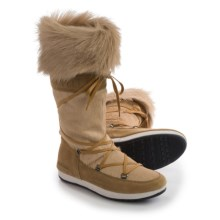 Tecnica Avenue Moon Boot® - Hair-On Cowhide (For Women) in Beige - Closeouts