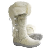 Tecnica Creek III Winter Boots - Genuine Fur (For Women) in White - Closeouts