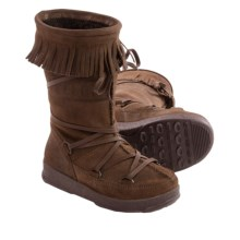 Tecnica Dakota Jr. Moon Boot® (For Boys and Girls) in Dark Brown - Closeouts
