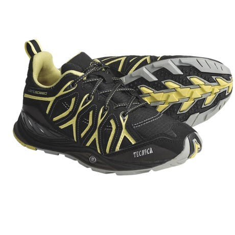 Tecnica Dragonfly Lightweight Trail Shoes - Low (For Women) in Black/Lime