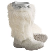 Tecnica Polar II Fur Winter Boots - Insulated (For Women) in White - Closeouts