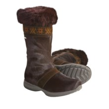Tecnica Sestriere Fur Boots (For Women) in Dark Brown - Closeouts