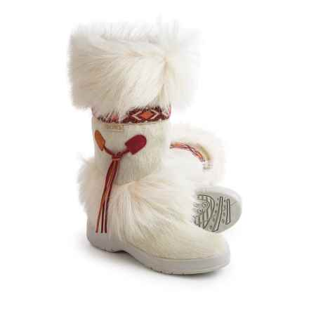 Tecnica Skandia Apres-Ski Winter Boots - Faux-Shearling Lined (For Women) in White/Red Aztec - Closeouts