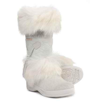 Tecnica Skandia Apres-Ski Winter Boots - Faux-Shearling Lined (For Women) in White - Closeouts