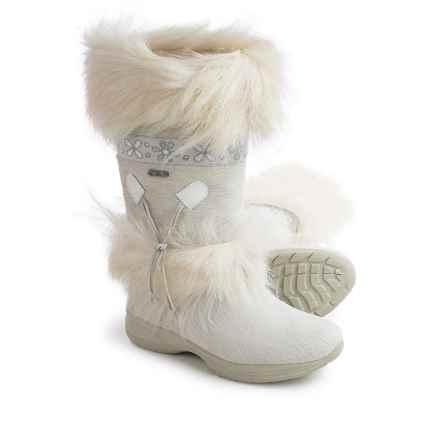 Tecnica Skandia II Fur Winter Boots - Waterproof, Insulated (For Women) in White - Closeouts