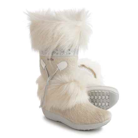 Tecnica Skandia III Apres-Ski Winter Boots - Faux-Shearling Lined (For Women) in White - Closeouts