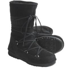 Tecnica W.E. Caviar Moon Boot® - Insulated (For Women) in Black
