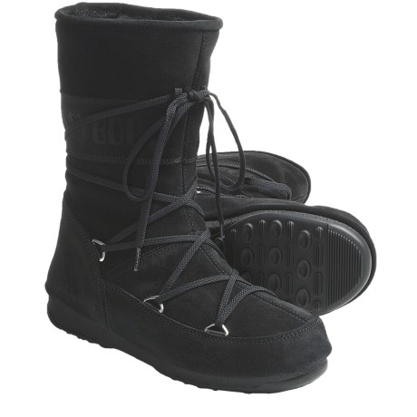 Tecnica W.E. Caviar Moon Boots - Insulated (For Women) in Black