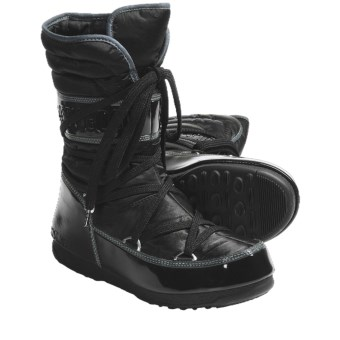 Tecnica W.E. Shorty Moon Boots - Insulated (For Women) in Black