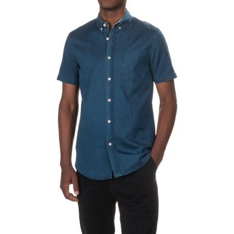 Tee Ink Denim Shirt - Short Sleeve (For Men) in Indigo