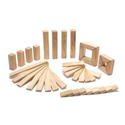 tegu Explorer Natural Magnetic Wooden Block Set - 40-Piece in Natural - Closeouts