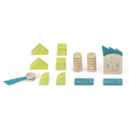 tegu Zip Zap Magnetic Wooden Block Set - 12-Piece in Multi - Closeouts