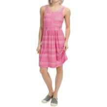 Tehama Costal Drift Dress - Built-In Shelf Bra, Sleeveless (For Women) in Sol Stripe Coral - Closeouts