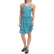 Tehama Costal Drift Dress - Built-In Shelf Bra, Sleeveless (For Women) in Sol Stripe Navy - Closeouts