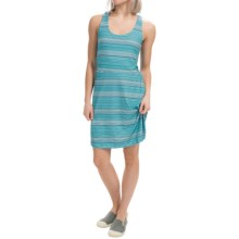 Tehama Fit Flare Dress - Sleeveless (For Women) in Sol Stripe Navy - Closeouts