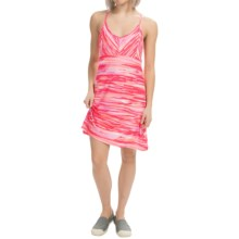Tehama V-Neck Slider Dress - Racerback, Sleeveless (For Women) in Watercolor Sunset Stripe Coral - Closeouts