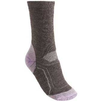 Teko Merino Wool Hiking Socks - Midweight (For Women) in Brown/Lilac