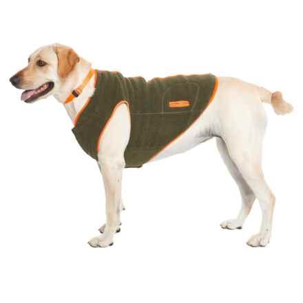 Telluride Boulder Fleece Dog Jacket in Hunter - Closeouts