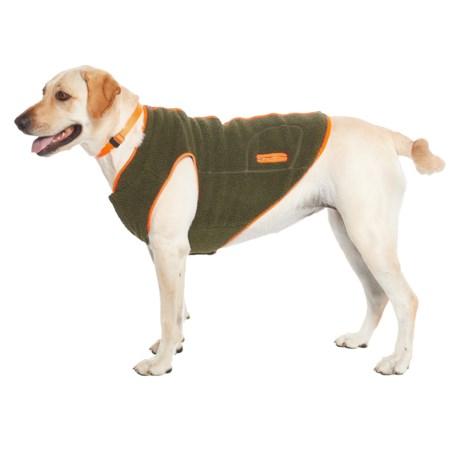 Telluride Boulder Fleece Dog Jacket in Hunter