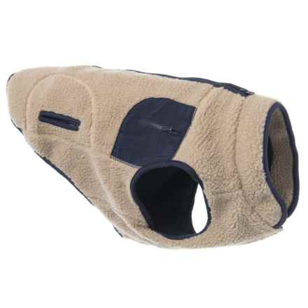 Telluride Boulder Fleece Dog Jacket - Small in Beige - Closeouts