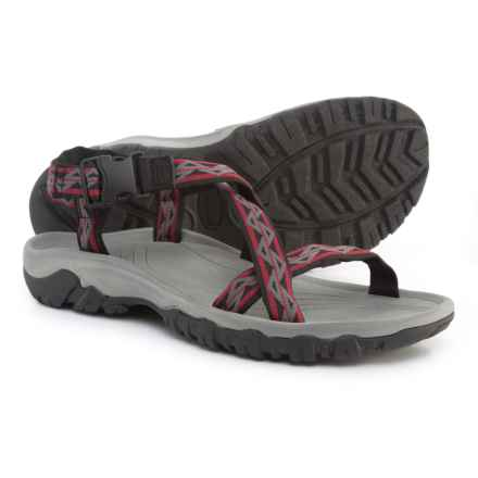 Telluride BR Sport Sandals (For Men) in Black/Red - Closeouts