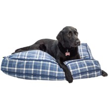 """Telluride Camp Plaid Rectangle Dog Bed - Large, 27x36"""" in Blue - Closeouts"""