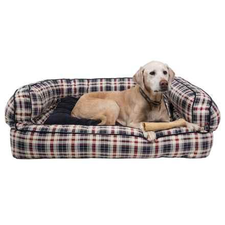 """Telluride David Plaid Bolster Dog Bed - XXL, 43x29"""" in David Plaid - Closeouts"""
