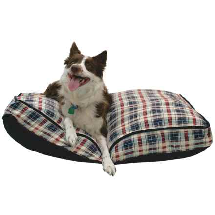 "Telluride David Plaid Rectangle Dog Bed - 40x28"" in David Plaid - Closeouts"