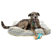 "Telluride Dog Days Plaid Rectangle Dog Bed - Large, 36x27"" in Yellow - Closeouts"