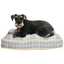 "Telluride Dog Days Plaid Rectangle Dog Bed - Medium, 28x19"" in Grey W/Yellow Trim - Closeouts"