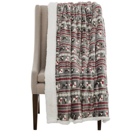 "Telluride Doggie Fair Isle Fleece Throw Blanket - 50x60"" - Save 40%"