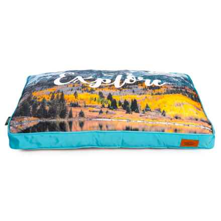 """Telluride Explore Mountains Rectangle Dog Bed - 28x40"""" in Multi - Closeouts"""