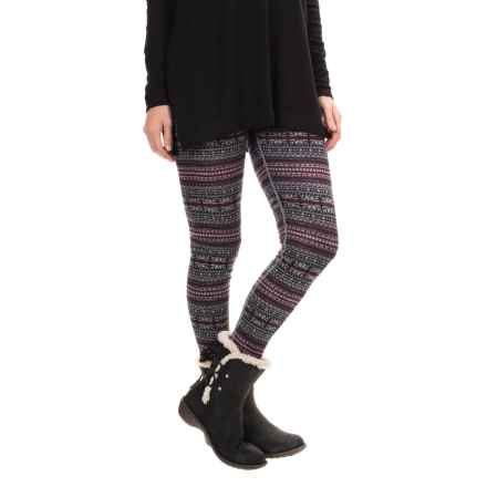 Telluride Knit Leggings - Merino Wool (For Women) in Black/Cloud/Berry/Lilac - Closeouts