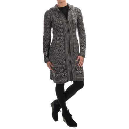 Telluride Long Cardigan Sweater - Full Zip (For Women) in Charcoal/Silver Grey - Closeouts