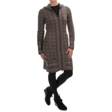 Telluride Long Cardigan Sweater - Full Zip (For Women) in Oak/Chinchilla - Closeouts