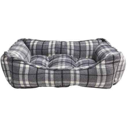 "Telluride Marty Lounger Dog Bed - 28x22"" in Plaid - Closeouts"